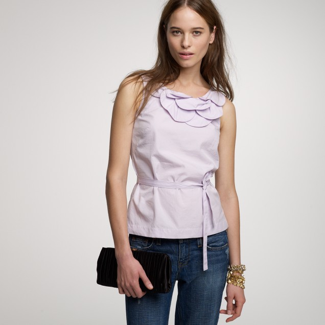 Scalloped petal top