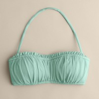 Shirred ruffle bandeau top