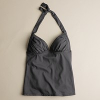 D-cup ruched lido tank top