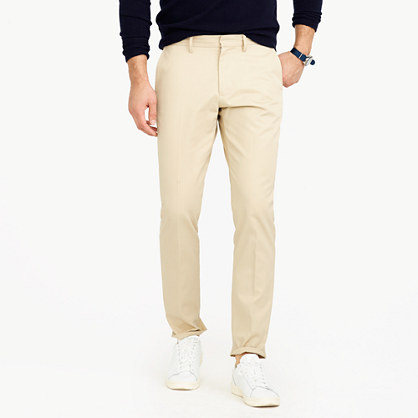 Bowery slim pant in cotton twill