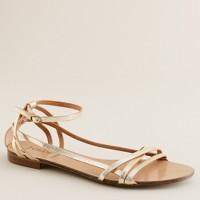Metallic vachetta gladiator sandals