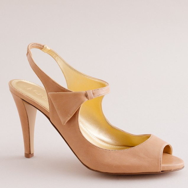 Bryant leather platform peep toes