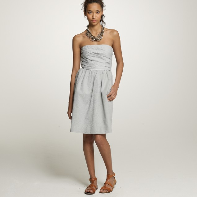 Strapless embossed Lottie dress