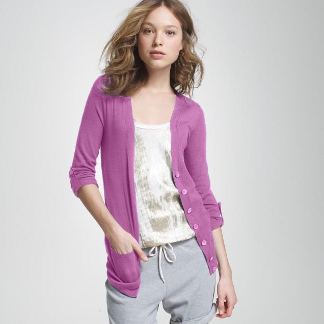 Featherweight cashmere V-neck cardigan