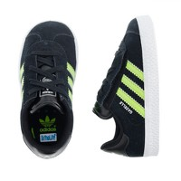 Boys' junior Adidas® for crewcuts black and neon Gazelle sneakers