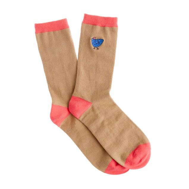 Tipped trouser socks