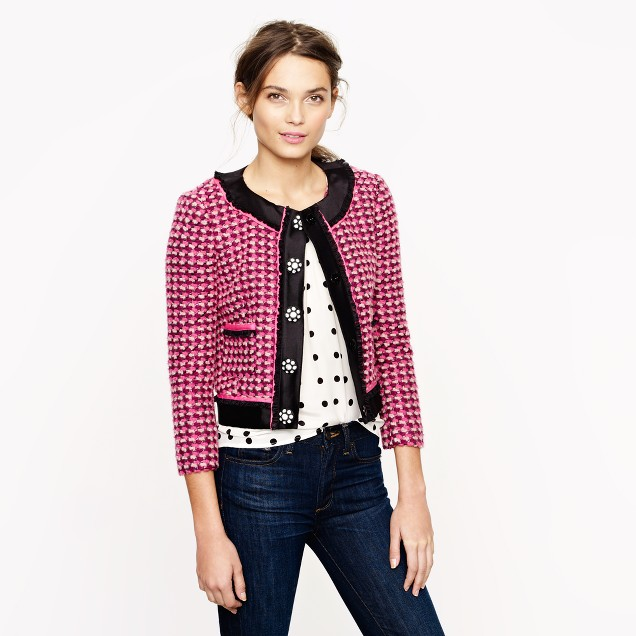 Collection lady jacket in pink tweed