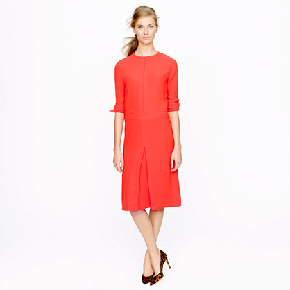 Collection pleated crepe dress