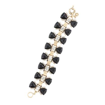 Tuxedo bows bracelet