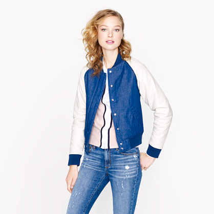 Collection denim bomber