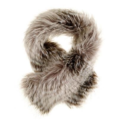 Girls' faux-fox scarf