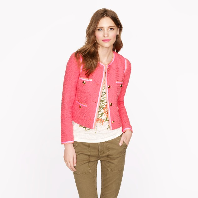 Coral tweed jacket