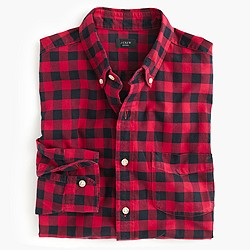 Slim vintage oxford shirt in buffalo check