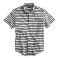 Secret Wash short-sleeve shirt in indigo stripe