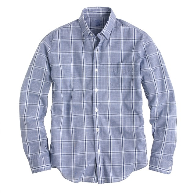 Lightweight chambray shirt in baltic check