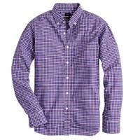 Slim Secret Wash shirt in raspberry check