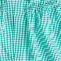 Turquoise gingham boxers