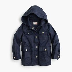 Girls' hooded downtown field jacket