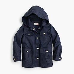 Girls' hooded downtown field jacket