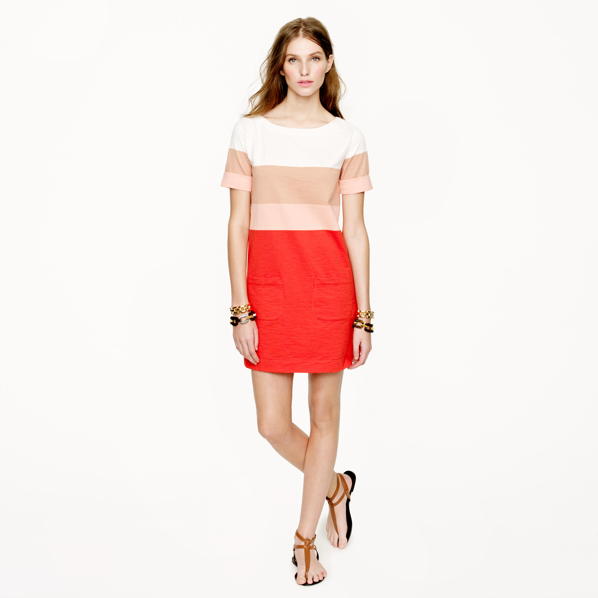 Colorblock shift dress : | J.Crew