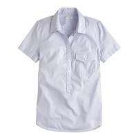 Short-sleeve popover in oxford dot