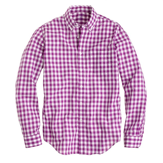 Tall Secret Wash shirt in large gingham