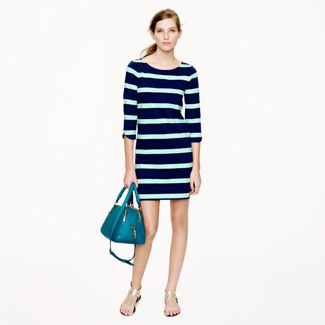 Stripe shirttail dress