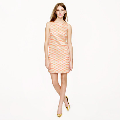 Gilded dot brocade dress