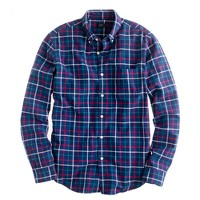Oxford plaid shirt in classic navy