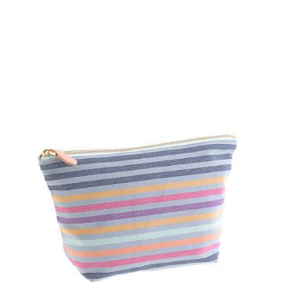 Stripe zip pouch