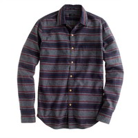 Slim brushed twill jaspé shirt in stripe