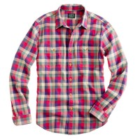 Flannel shirt in vintage barn plaid