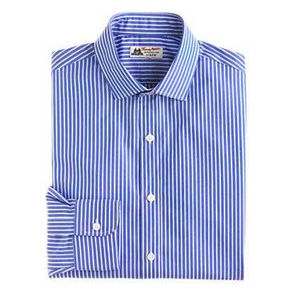 Thomas Mason® for J.Crew spread-collar dress shirt in blue bengal stripe