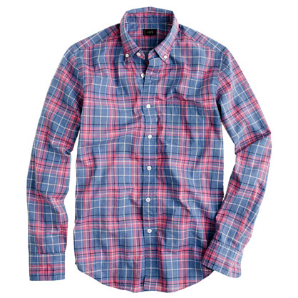 Secret Wash shirt in seascape plaid