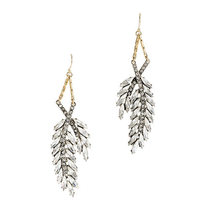 Lulu Frost for J.Crew crystal wheat earrings
