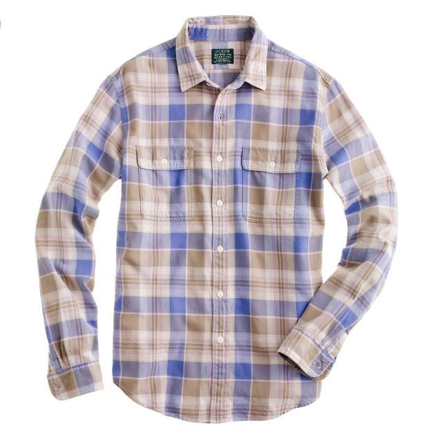 Flannel shirt in desert sandplaid