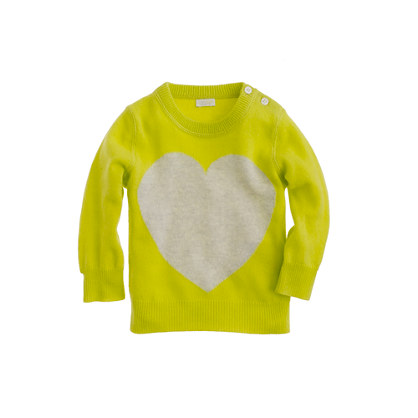 Baby cashmere sweater in heart me