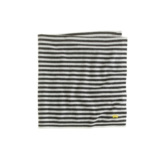Baby cashmere blanket in multistripe