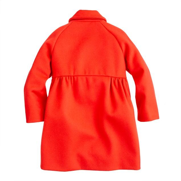 Girls' gold-button coat