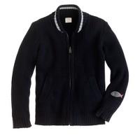 Boys' baseball sweater-jacket