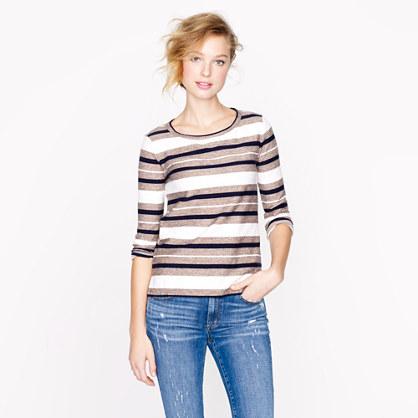Reverse-jacquard stripe popover