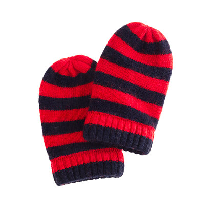 Collection baby cashmere stripe mittens
