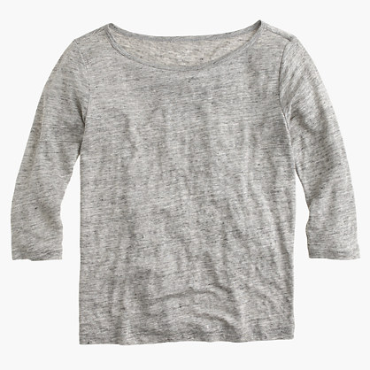 Linen boatneck T-shirt