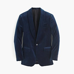 Ludlow shawl-collar blazer in velvet