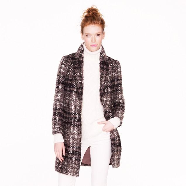 Collection tartan car coat