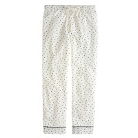 Flannel sleep pant in polka dot