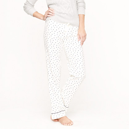 Flannel sleep pant in polka dot