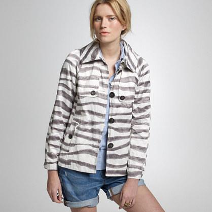 Vintage zebra-stripe trench coat