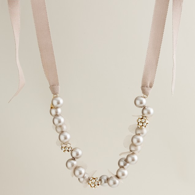 Petal-and-pearl necklace