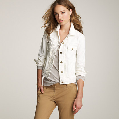 Nolita white denim jacket